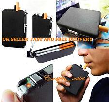 New Double Ejection Cigarette Lighter Case Box Holder Windproof Dispenser