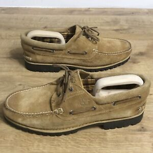 Timberland 3 Eye Brown Moccasin Deck Shoes Size Uk 12.5 (US13) Men's Suede