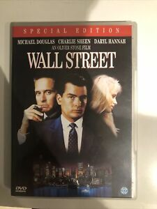 DVD - WALL STREET WALLSTREET - DARYL HANNAH CHARLIE SHEEN zone 1 USA