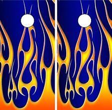 C02 Fire Flames Cornhole Board Wrap LAMINATED Wraps Decals Vinyl Sticker