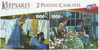 Deluxe Puzzle 2 Pack -Two 1,000 PC. Jigsaw Puzzles - Wash Day/Snapping Beans