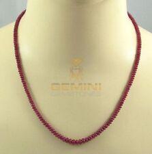 Rubin Kette rote Rubin Rondelle Halskette für Damen 50 cm lang