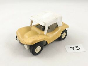 VINTAGE TONKA TOYS # 55340 BEACH DUNE BUGGY YELLOW WITH CANOPY DIECAST METAL USA