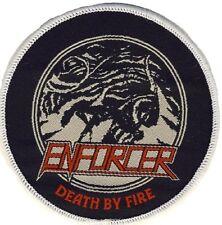 Enforcer - Death by Fire - Aufnäher / Patch - Neu - # 2380