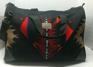 Vtg Pendelton High Grade Westernwear Overnight Duffle Bag Weekender Made in USA