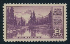 US Stamp #742 Mt Rainier 3c, PSE Cert -XF 90 - MOGNH - SMQ $15.00