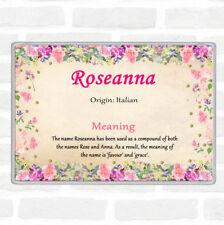 Roseanna nom signifiant Jumbo Aimant De Réfrigérateur Motif Floral