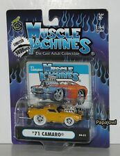 Muscle Machines White Tire Limited 1971 Chevrolet Camaro 71 Chevy 1 Of 1496 1:64
