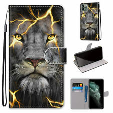 Fission Lion Cool Animal 3D Hot Flip Wallet Bracket Case Cover For Various Phone