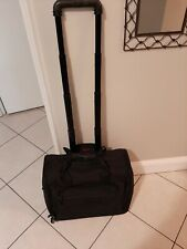 Tumi 'Alpha' 2 Wheeled Rolling Tote Carry On Suitcase Black 2221D3