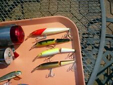 """LOT 4 RAPALA,LARGEST IS MAGNUM FLOATING 14 IS 6 1/2"""" TOTAL+3 FINLAND 5 1/2""""MINTY"""