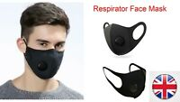 5x Face Mask Protective Covering Mouth Masks Washable Reusable Black UK 5 Pieces