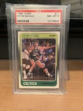 1988 FLEER BASKETBALL #11 KEVIN MCHALE PSA 8