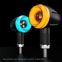 2Pcs LED Super Bright Motorcycle Turn Signals Lights Mini Night Warning Lamp