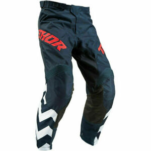 """Thor Pulse Stunner Motocross Trousers Pant ADULT 28""""  - Black Red"""