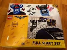 NEW Lego The Batman Movie Sketchy FULL Sheet Set 4 piece - Microfiber FREE S/H !