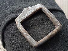 Tudor bronze/silvered buckle rare 1500 hundreds artifact L1g