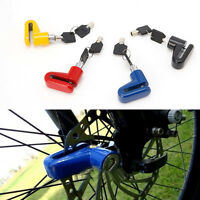 Disc Bike Rotor Lock Bicycle Motorcycle Anti-theft Scooter Disk Brake Safety New