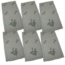 Pack 6 Scottish Thistle Chair Backs Covers Protectors Seat Antimacassar C834