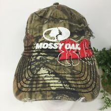 Mossy Oak 86 Distressed Camouflage Hat Cap Mens One Size Adjustable NWT