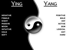 """YIN and YANG Jasmine Scented Candle, Round  5 1/2""""  tall  x 3 1/2"""" wide"""