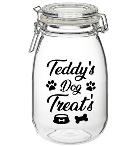 Hinch inspired Personalised Dog / Puppy Treats Vinyl Sticker Decal