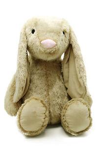 Plüschtier Kuscheltier Hase Madchen Junge XXL 88cm beige/grau/weiß