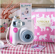 New Pink/white FujiFilm Fuji Instax Mini 7S Instant Photos Films Polaroid Camera