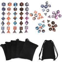 35X Polyedrische Tasche Würfel Set Dungeons & Dragons D4-D20 Würfelspiel  3X +F