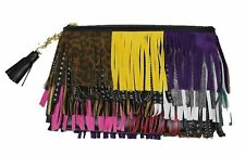 YSL Saint Laurent Pouch New Jolie Multicolor Fringes 403418 CWU21