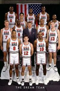 👀👍  Olympic Dream Team Poster  Jordan, Bird, Magic, Stockton 53080 Basketball