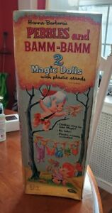 Vintage Flintstones Pebbles Bamm Bamm Magic Dolls MiB 1965 by Whitman Hannah...