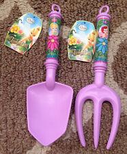 Girls Disney Fairies Tinkerbell Garden~Gardening Shovel Trowel & Cultivator Kids