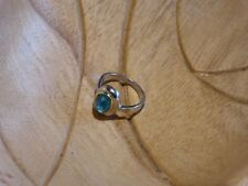 Vintage 925 Solid Sterling Silver Ring With Nice Stone 4 grams (O)