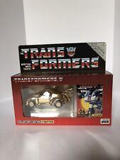 Raro Takara E-Hobby exclusivo G1 Transformers #06 Reissue Jazz oro Meister Menta en Caja Sellada