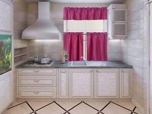 1 Pair Floral Tropical Design Rod Pocket Blackout Window Curtains Set WARDA