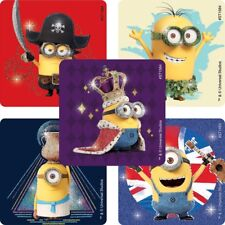 """20 Despicable Me/ Minions Movie Glitter Stickers, 2.5"""" x 2.5"""" each, Party Favors"""