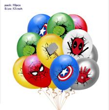 10 PCS 12``Avengers superhero Balloons Kids Lovely Kids Party Birthday Supplies