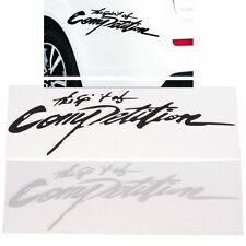 Styling Carbon Black Car Sticker Vinyl Decals 3d The Spirit Of Competition