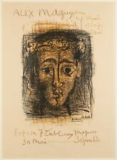 1962 Original After Pablo Picasso Exhibition Poster Alex Magu Gallery