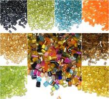 Rocailles 2mm Stift Perlen 20/100g Schmuck Basteln Röhre Glasperlen Farbauswahl