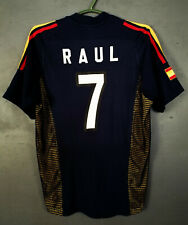 MENS ADIDAS SPAIN NATIONAL 2002/2003 RAUL #7 FOOTBALL SOCCER SHIRT JERSEY SIZE S