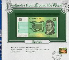 World Banknotes Australia 2 Dollar 1983 P43d Johnston/Stone Unc Prefix Klg
