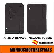 LLAVE TARJETA RENAULT MEGANE , SCENIC CON ELECTRONICA Y ESPADIN