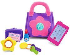 My First Purse Purple Pink Flower Wallet Keys Lipstick Cellphone Toys for Girls