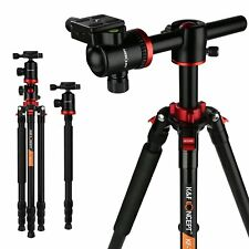 K&F Concept Professional DSLR SLR Camera Tripod&Ball Head Travel Monopod Red