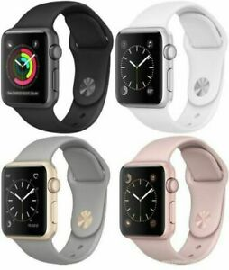 Apple Watch Series 3 38mm Cellular Smart Watch Aluminum Case With Sport Band
