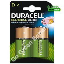 2 x Duracell D Size 3000 mAh Rechargeable Batteries NiMH LR20 HR20 DC1300 ACCU