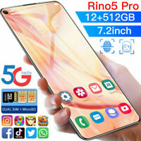 7.2 inch Smartphone 12GB+128GB Android 10 Full Screen Face ID Mobile Cell Phone