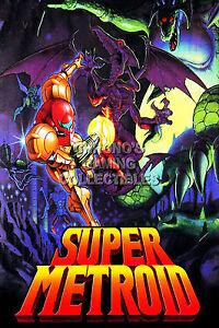 RGC Huge Poster - Super Metroid Samus Aran Nintendo NES SNES GBA - METS01